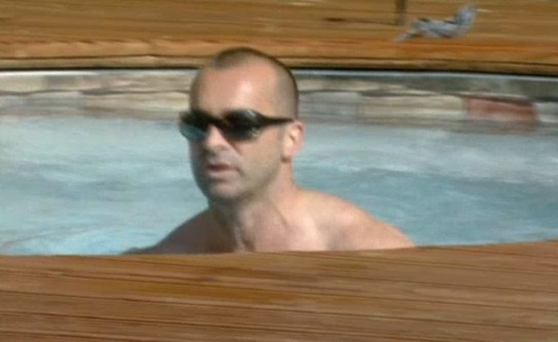 Louie Spence in the pool in CBB - 29 August 2013