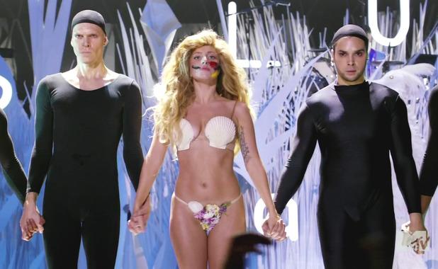 Lady Gaga at 2013 MTV Video Music Awards held at the Barclays Center, Brooklyn