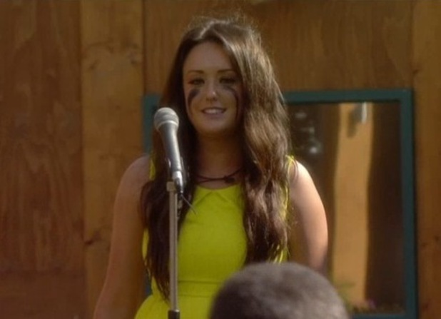 Charlotte Crosby from Geordie Shore performs in Celebrity Big Brother task - 27 August 2013