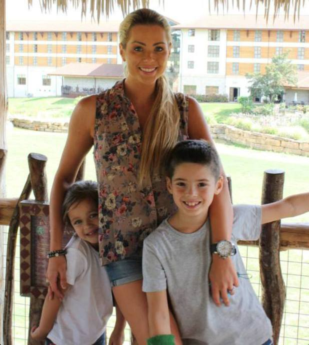 Nicola McLean goes to Chessington World Of Adventures with sons Rocky and Striker - 30 August 2013