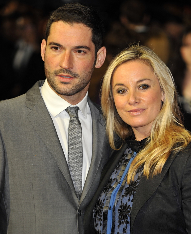 Tom Ellis and Tamzin Outhwaite 56th BFI London Film Festival: Great Expectations - closing film held at the Odeon West End - Arrivals London, England - 21.10.12