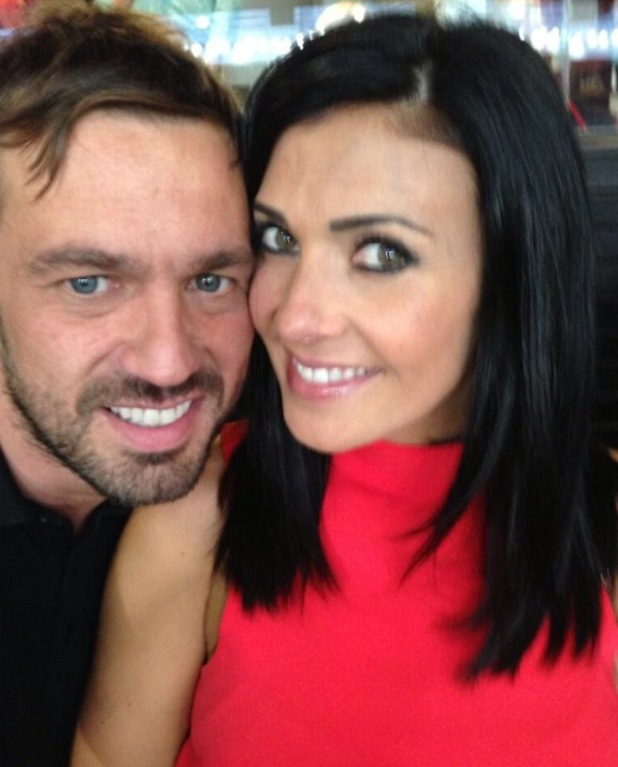 Jamie Lomas and Kym Marsh pose for loved-up photo - 26 August 2013