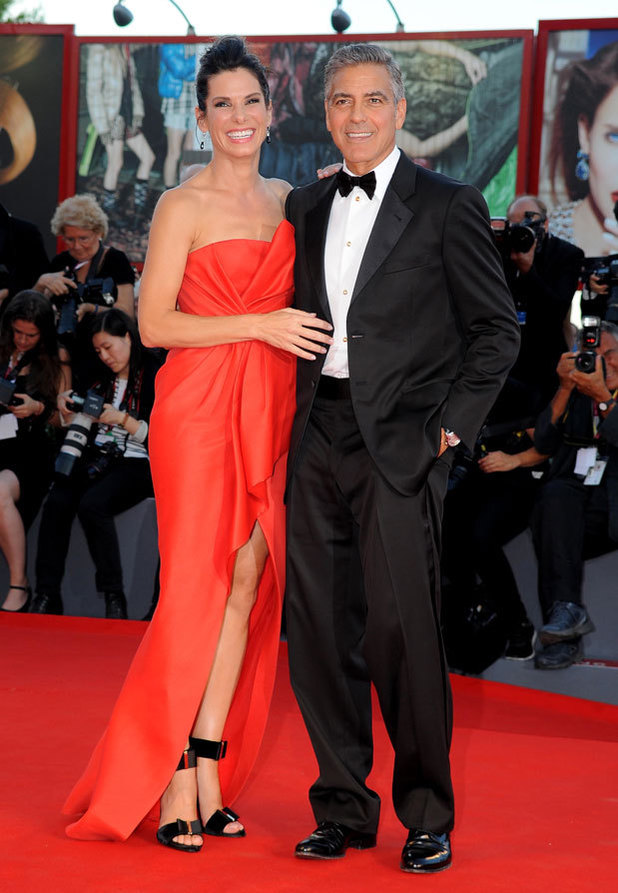 Sandra Bullock & George Clooney at the Venice Film Festival, 28/08/13