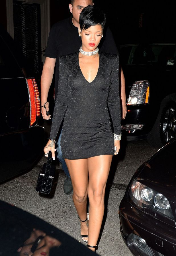 Rihanna arriving at the Dream hotel for VMAs after party, New York, America - 25 Aug 2013