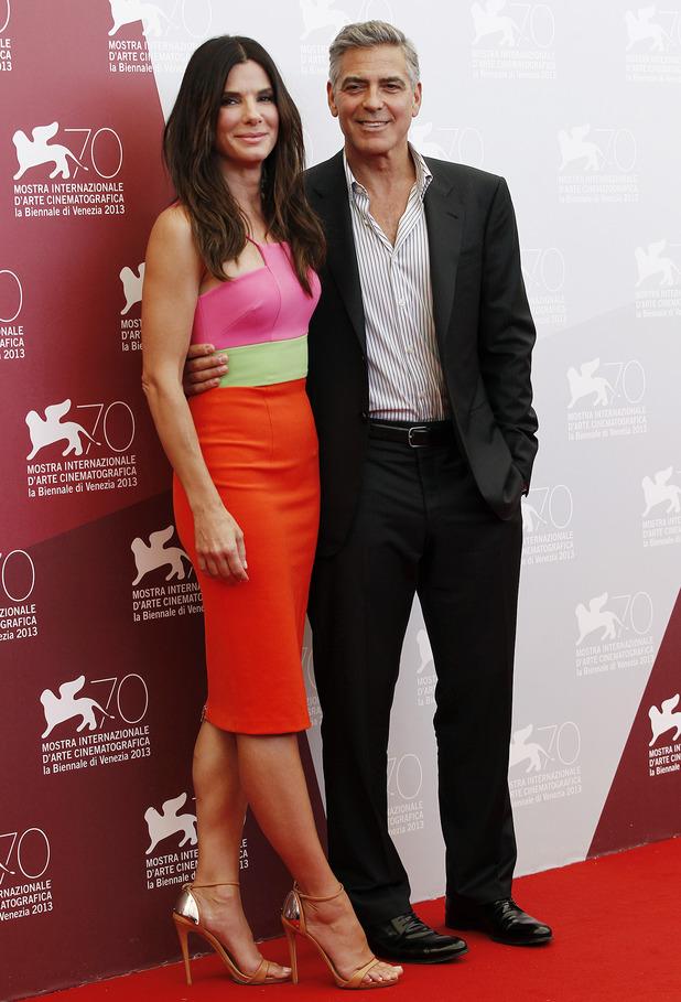 70th Venice Film Festival - 'Gravity' - Photocall Sandra Bullock, George Clooney - 28.8.2013