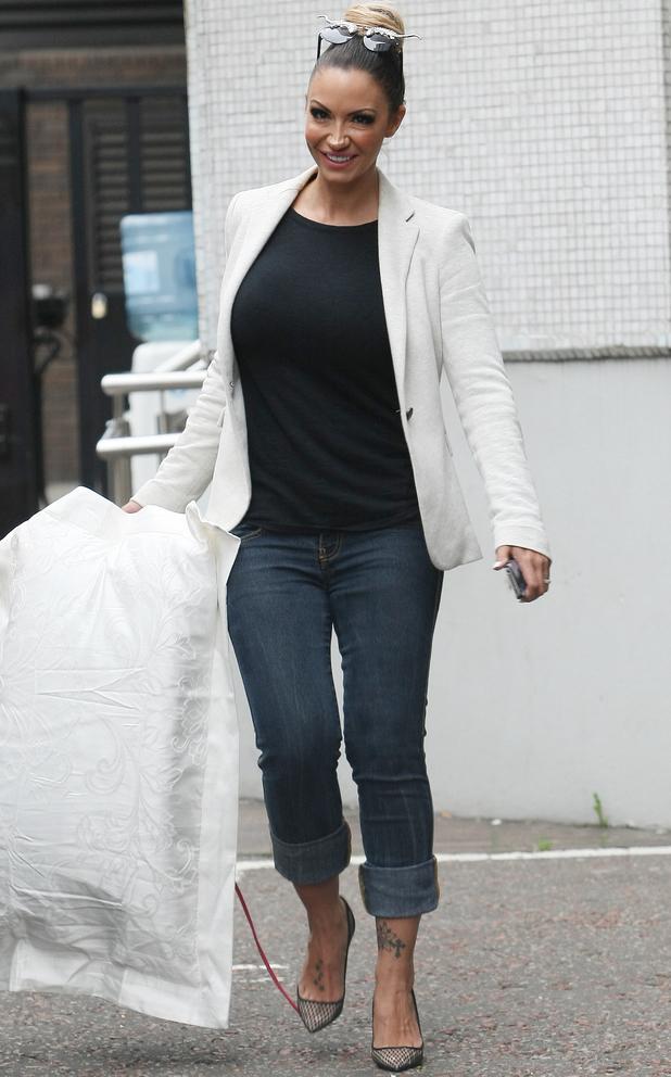 Celebrities Leaving the ITV Studios - Jodie Marsh - 27 August 2013