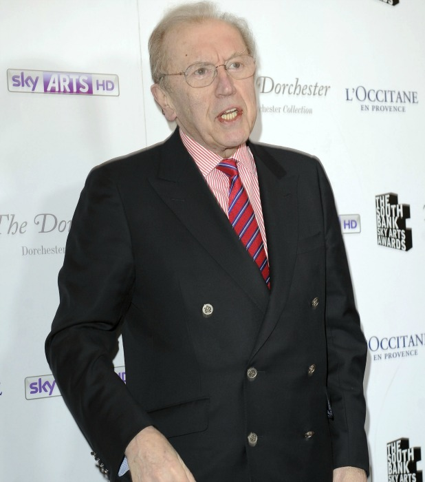 David Frost at South Bank Sky Arts Awards held at the Dorchester - Arrivals, 2012
