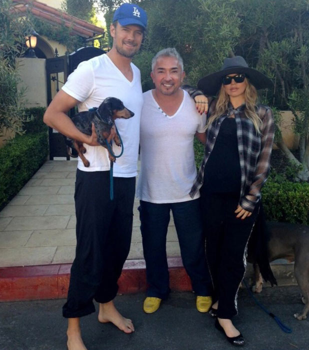 Fergie and Josh Duhamel with Cesar Milan, 2013