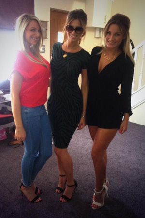 Ferne McCann and Sam Faiers before their night out in Essex (26 August)