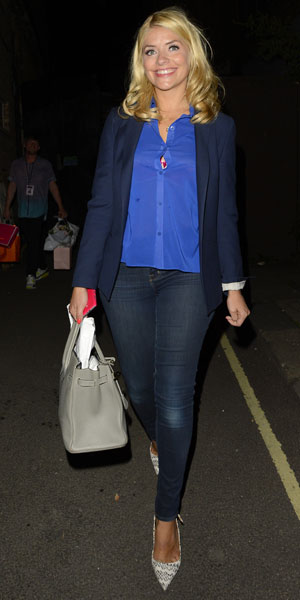 Holly Willoughby leaving a Celebrity Juice taping, 28 August 2013