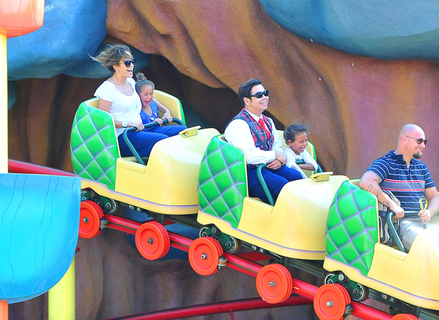 Jennifer Lopez at Disneyland Jennifer Lopez, JLO, Emme Maribel Muniz, Maximilian David Muniz Credit :WENN.com