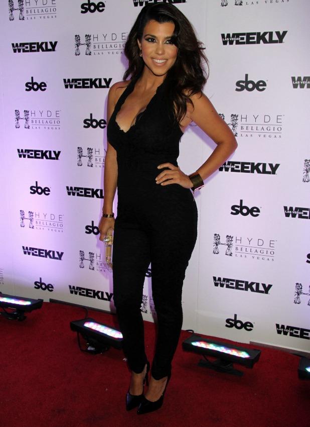 Kourtney Kardashian Hosts Labor Day Bash at Hyde Bellagio Inside Bellagio Hotel and Casino In Las Vegas, NV on 8/31/13