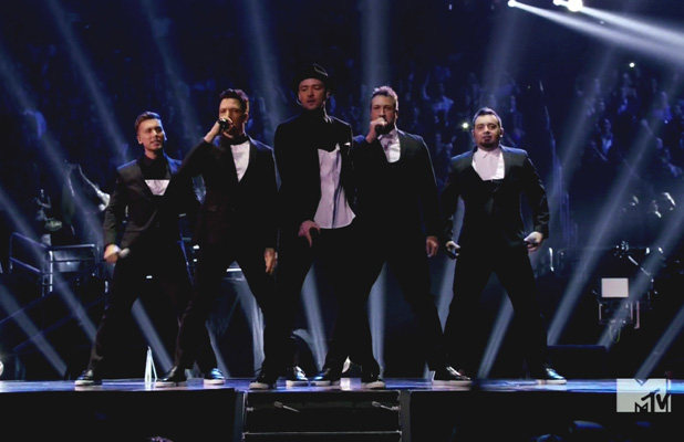 2013 MTV Video Music Awards held at the Barclays Center Person In Image:'N Sync,Justin Timberlake,JC Chasez,Lance Bass,Joey Fatone,Chris Kirkpatrick Credit : Supplied by WENN.com