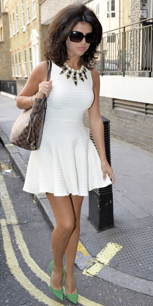 Lucy Mecklenburgh out and about in London 29/08/13