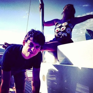 Caroline Flack and Matt Richardson host The Xtra Factor in France - September 2013