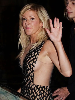 Ellie Goulding in a plunging dress