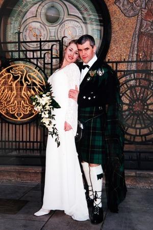 Lenka on her wedding day
