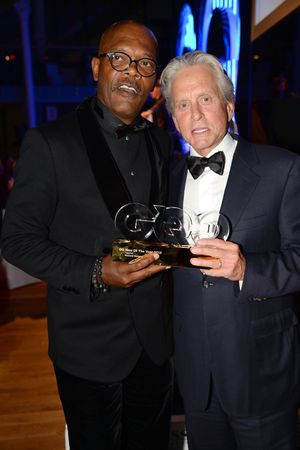 GQ Men of the Year Awards, Royal Opera House, London, Britain - 03 Sept 2013 Samuel L Jackson and Michael Douglas