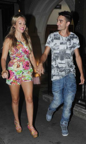 Tom Parker leaves Mahiki Nightclub with his girlfriend Kelsey Hardwick after night out PersonInImage:Tom Parker, Kelsey Hardwick Credit : Craig Harris/WENN.com