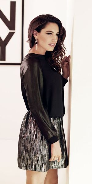 Kelly Brook models her latest autumn collection for New Look
