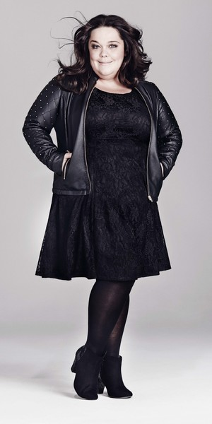 Lisa Riley models Evans AW13 range