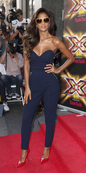 Nicole Scherzinger at the X Factor premier