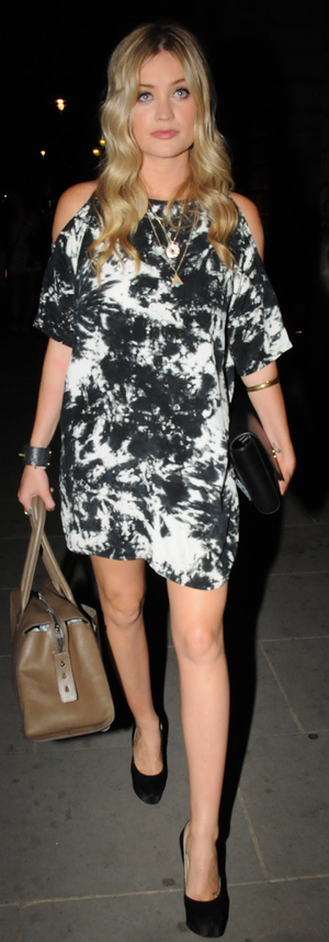Laura Whitmore in Monochrome Dress at Very's Definitions Launch at Somerset House - London 4th September 2013