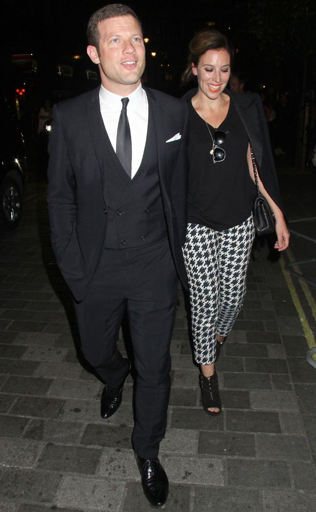 Brits Icon Awards honouring Sir Elton John at London Palladium - Departures - Dermot O'Leary and wife Dee - 3 September 2013