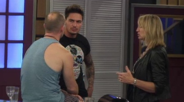 Carol McGiffin, Louie Spence, Mario Falcone on Celebrity Big Brother - 6 September 2013
