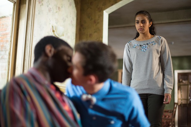 Hollyoaks, Vincent and George kiss, Wed 4 Sep
