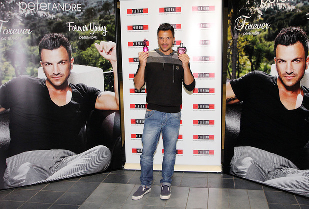 'Forever Young' and 'Forever' fragrance signing, Stoke-on-Trent, Staffordshire, Britain - 05 Sep 2013 Peter Andre