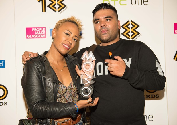 Emeli Sandé and Naughty Boy at the MOBO Awards nomination launch party - London 3 September 2013
