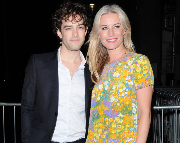 Denise Van Outen and Lee Mead Sir Richard Branson's Pre-Wimbledon Party held at The Roof Gardens - Outside departures. London, England - 21.06.12