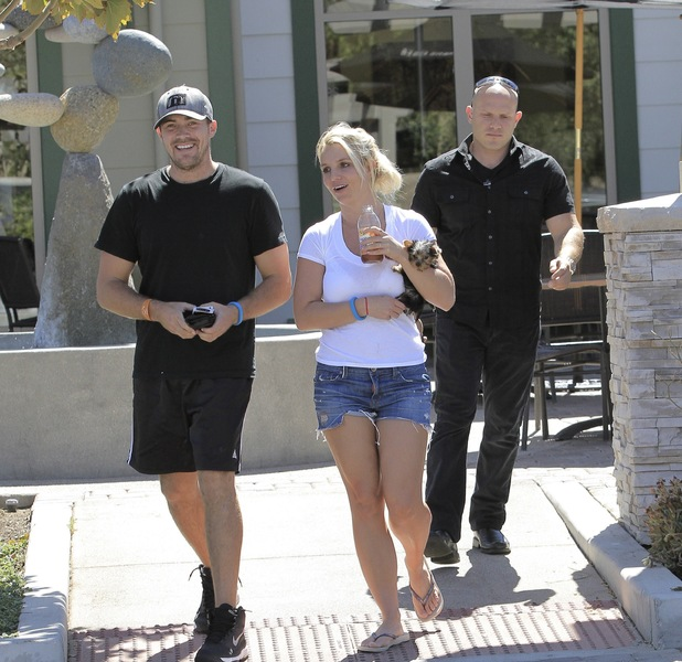 Britney Spears and David Lucado out and about