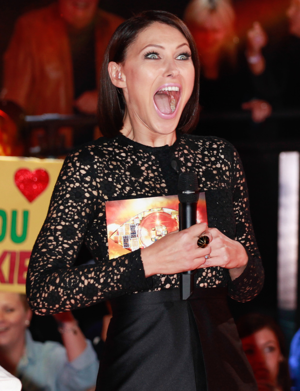Emma Willis presenting Celeb Big Brother 2013
