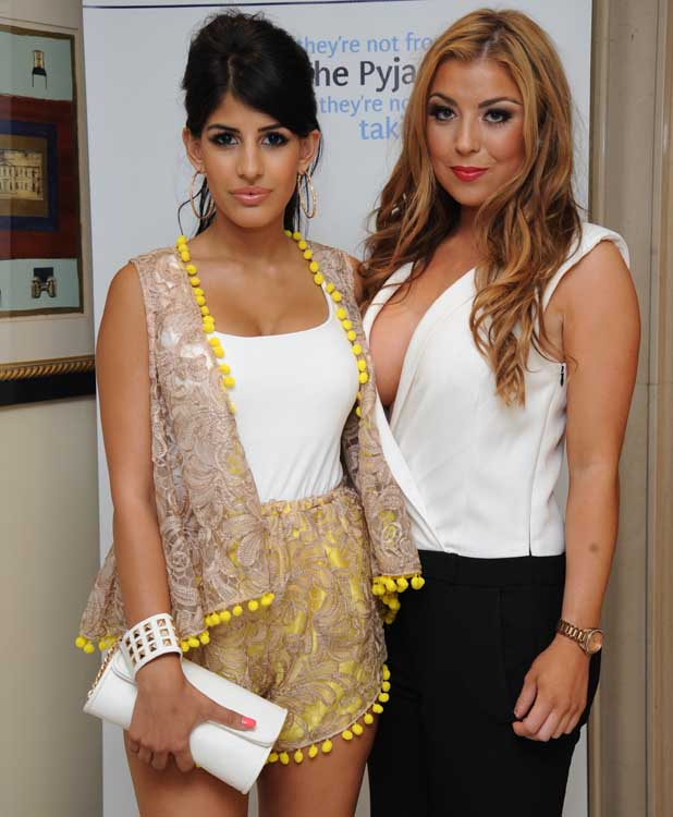 TOWIE's Jasmin Walia and Abi Clarke at The Pyjama Store's VIP annual Celebrity Soiree (4 September)