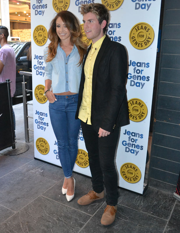 Danielle Peazer and Steven Duggan at the Jeans For Genes Day 2013 party, London, 3 September 2013