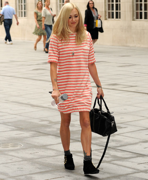 Fearne Cotton arrives at Radio 1 on her 32nd birthday, 3 September 2013