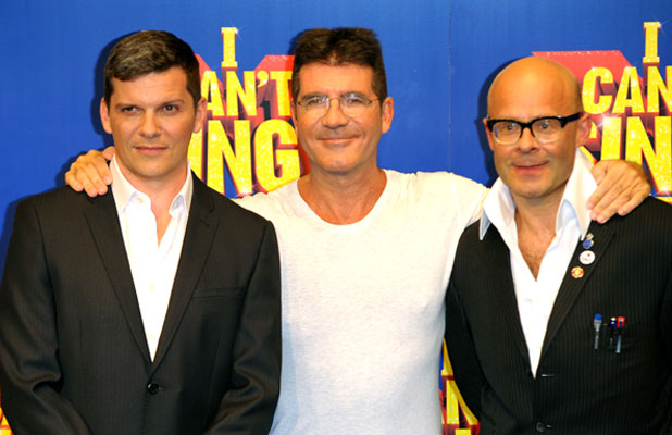 X Factor musical press launch, London, Simon Cowell, Nigel Harman, Harry Hill