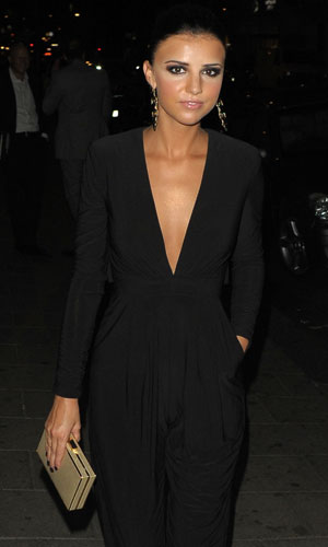 Lucy Mecklenburgh out in London on 3 September 2013
