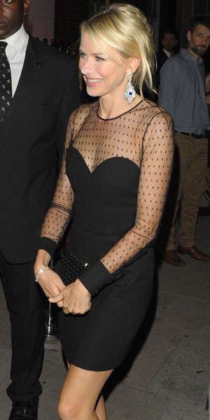 Naomi Watts, World Premiere of 'Diana' - Afterparty at No. 5 Cavendish Square, 5 September 2013