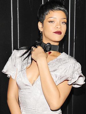 Rihanna, at New York Fashion Week 8 Sep 2013