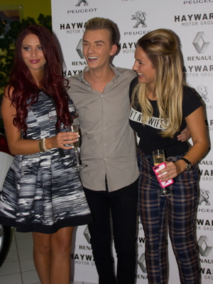 The Hayward's 20th anniversary event on Saturday (7 September) Sam Faiers, Amy Childs and Harry Derbidge