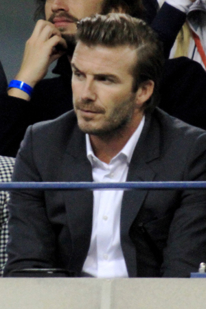 Celeberties came out in style to watch the Mens Final at the 2013 US Tennis Open. Person In Image:David Beckham Credit :Joel Ginsburg/WENN.com