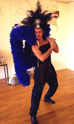Strictly Come Dancing's Ashley Taylor Dawson in rehearsals