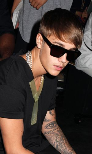 Y-3 show, Spring Summer 2014, Mercedes-Benz Fashion Week, New York, America - 08 Sep 2013 Justin Bieber