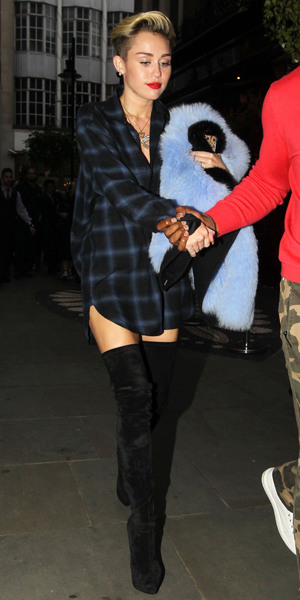 Miley Cyrus out and about, London, Britain - 10 Sep 2013