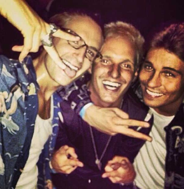 TOWIE's Joey Essex partying with Made In Chelsea's Oliver Proudlock and Jamie Laing