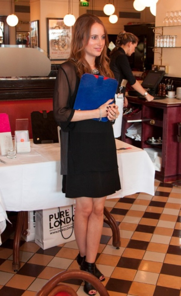 Rosie Fortescue at the launch of her new range of mobile phone and tablet accessories for Covert