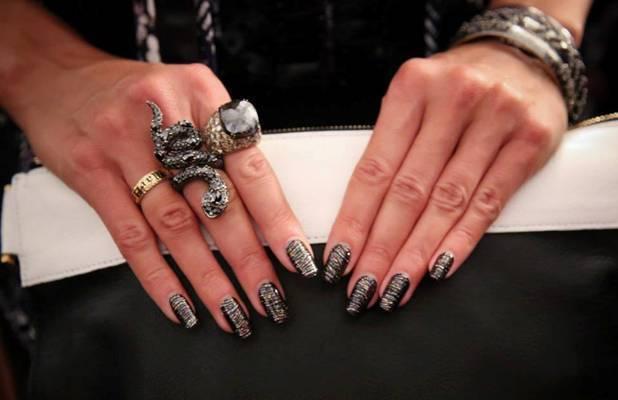 Heidi Klum nails wraps by OPI